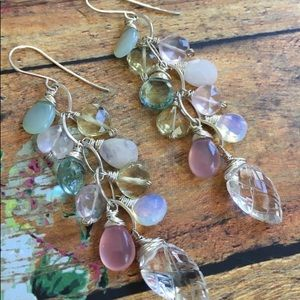 Spring cluster earrings